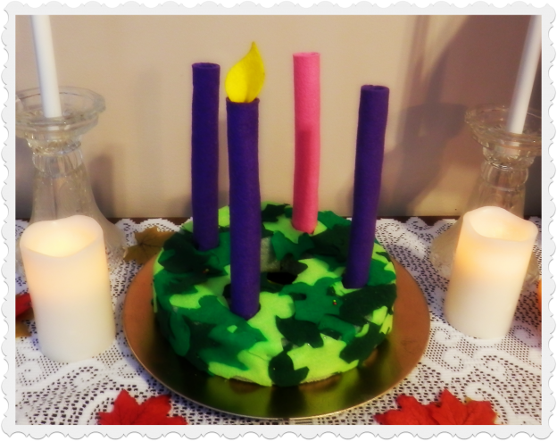 Make an Advent Wreath for Little Hands